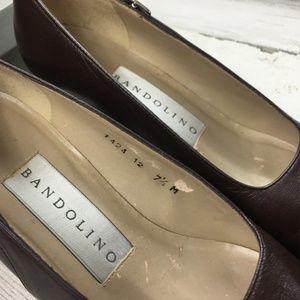 Bandolino Shoes - Vintage 90s Bandolino Block Heel Square Toe Shoes